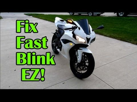 wiring diagram for motorcycle labeling animal cell 7th grade ez fast blink fix on - turn signal relay installation youtube