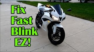 EZ Fast Blink Fix on Motorcycle - Turn Signal Relay Installation
