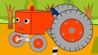 Мультфильм про маленький трактор. Детская передача Учимся Вместе.