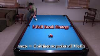 3-Ball Pool Break Strategy and Tips - How to Make a Ball and Score Low