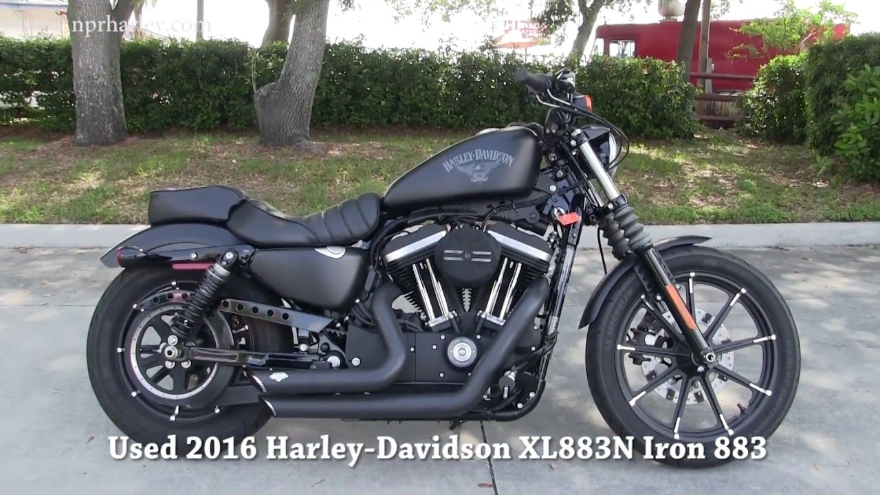 used 2016 harley davidson xl883n iron 883 motorcycle for sale in florida youtube. Black Bedroom Furniture Sets. Home Design Ideas