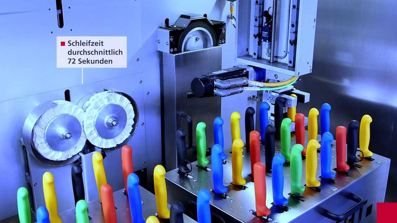 vollautomatische handmesser-schleifmaschine e 50 - youtube