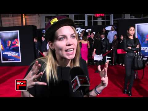 Skylar Grey talks Kid Cudi music on Need For Speed Soundtrack at Need for Speed Premiere