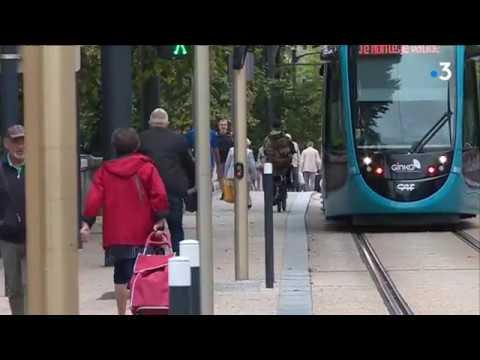 A Besançon, la difficile cohabitation entre le tram et les vélos