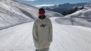 Как кататься на лыжах в свиче (задней стойке)