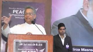 Father Ronnie Prabhu @ Ahmadiyya Muslim Jamaat Peace Symposium Bangalore 2013