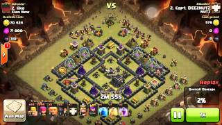 Clash of Clans Attacks || Giant Lv7 Attack Hall 10