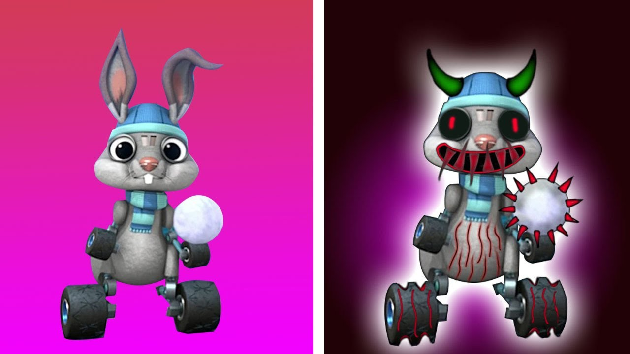 Blaze And The Monster Machines THE BUNNY As Horror Version