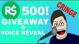 ROBLOX ROBUX GIVEAWAY + #ROADT020SUBS + VOICE REVEAL