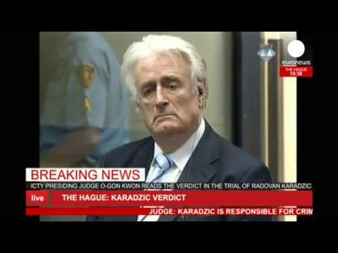LIVE verdict: Radovan Karadzic sentenced to 40 years prison