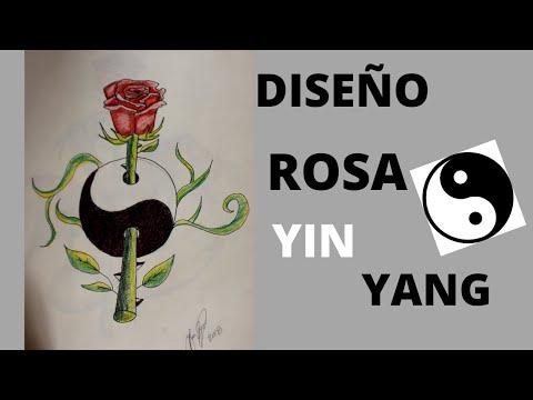 Cómo dibujar y pintar una rosa yin yang