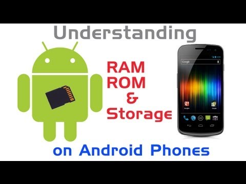 Understanding RAM / ROM / Storage On Android Phones