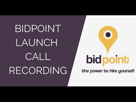 BidPoint Launch Call- NEW Commercial Energy Opportunity