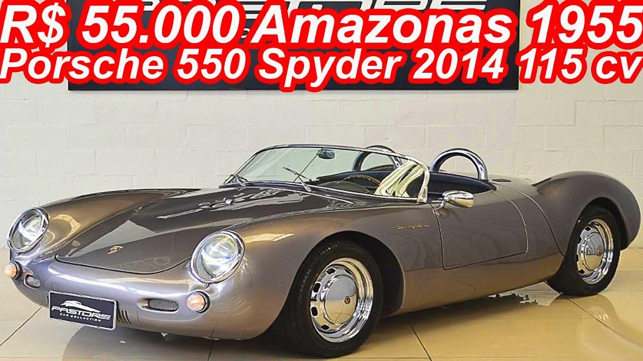 pastore r 55000 amazonas 1955 porsche 550 spyder 2014 mt5 rwd 18 vw flex 115 cv 220 kmh 680 kg - Porsche Spyder 550 2014