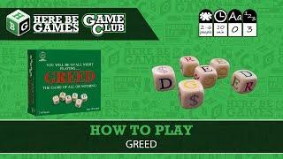 Greed Dice Game Board Game