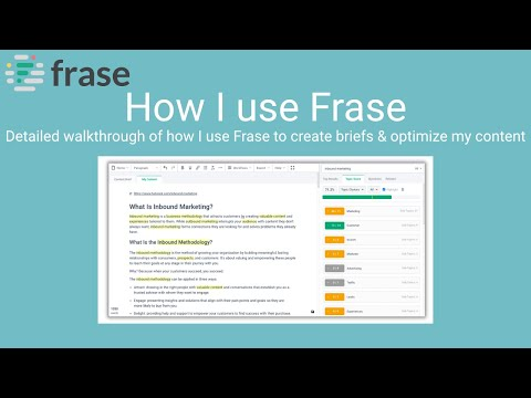 Download Frase Demo - How to use Frase.io (with real world examples)
