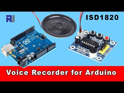 Arduino Talks With ISD1820 Voice, Audio Recorder Player Module With Arduino Code