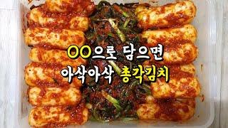 알타리김치,총각김치 아삭아삭 맛있게 담그는법!(KORE…