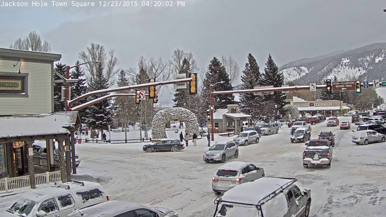 jackson town square winter storm timelapse youtube