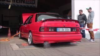 Ford Sierra DOHC Leistungsprüfstand | Dyno run