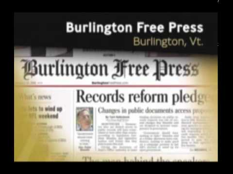 Burlington (Vt.) Free Press, First Amendment, Edward Willis Scripps Award