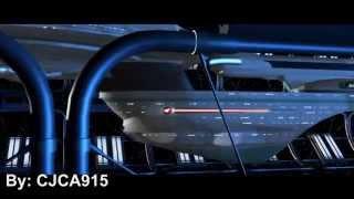 Star Trek: Generations Enterprise B Leaving Drydock Recreation