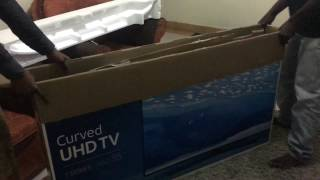 Samsung 55 Inch Smart TV UA55KU7350 Unboxing