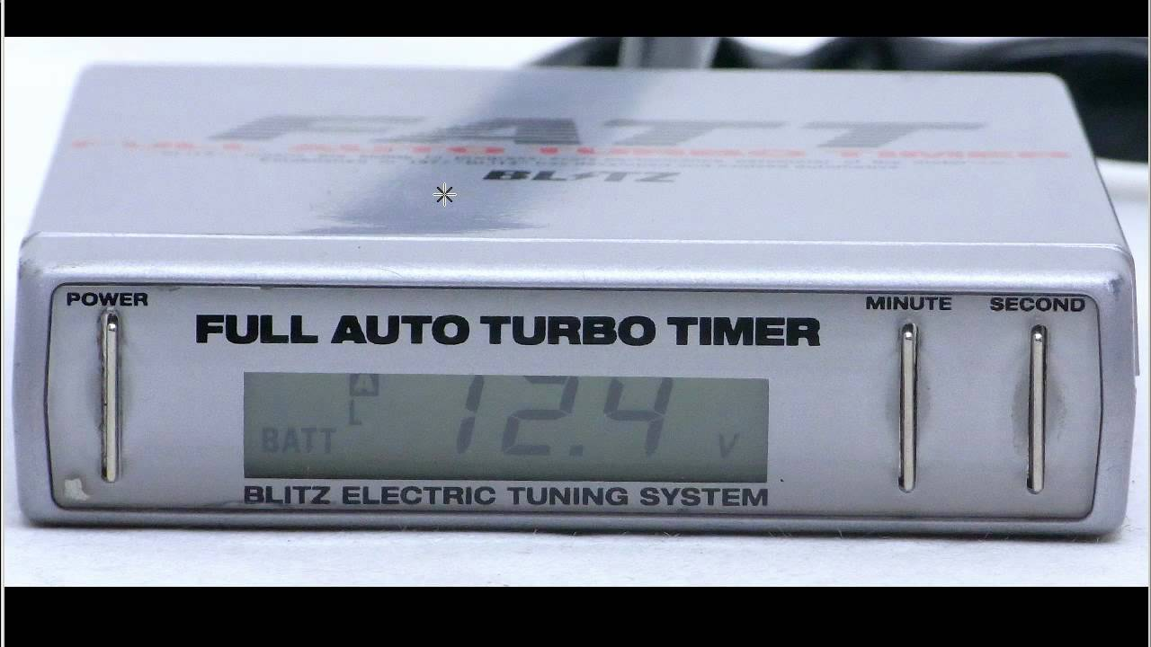 blitz fatt turbo timer instructions