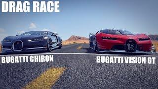 BUGATTI VISION GT VS BUGATTI CHIRON DRAG RACE  | ASSETTO CORSA