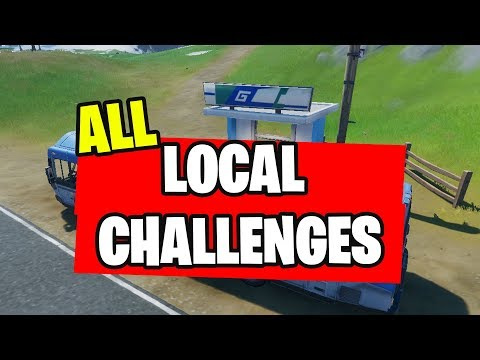 ALL LOCAL CHALLENGES AND REWARDS FORTNITE