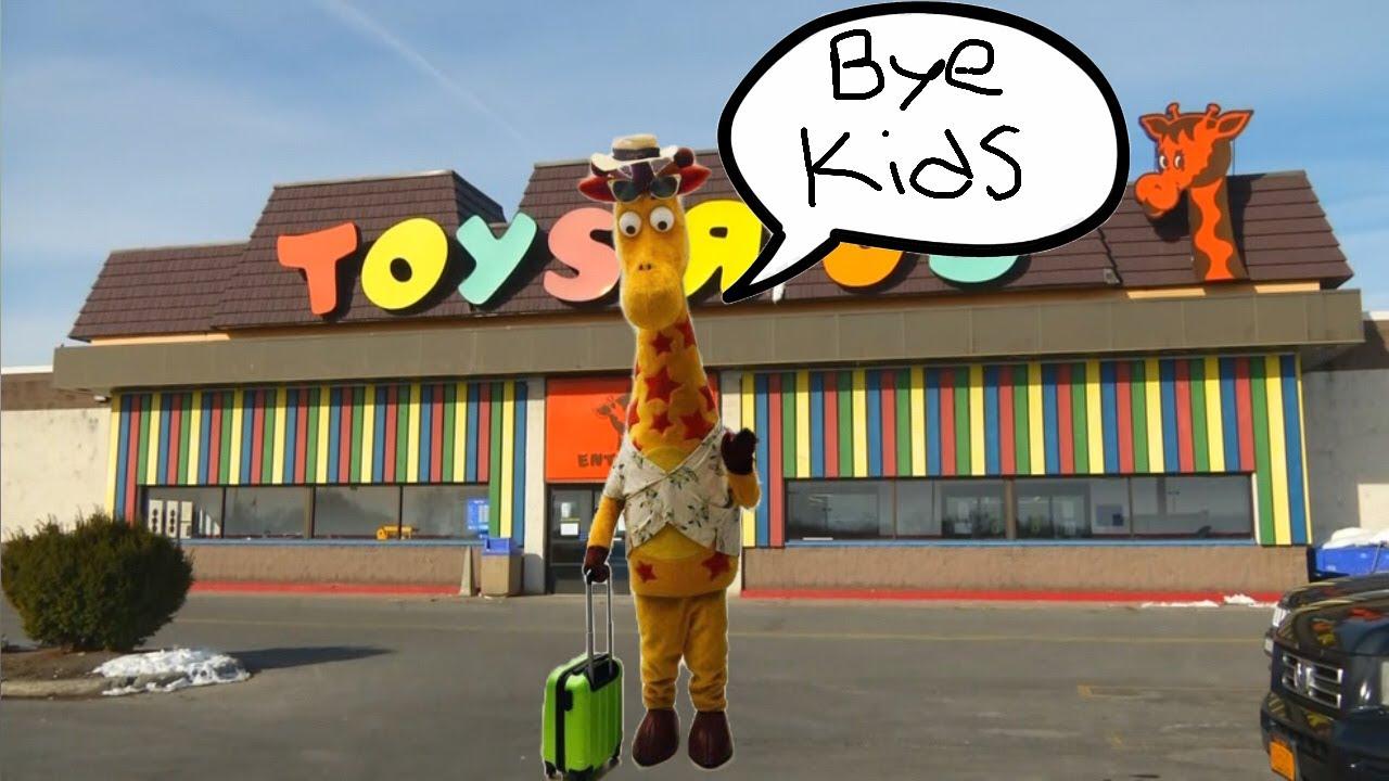 Geoffrey The Giraffe Says Goodbye Youtube
