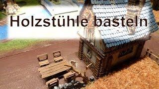 Lets craft # 58 Bastel Tutorial - Miniatur Stühle basteln und bemalen