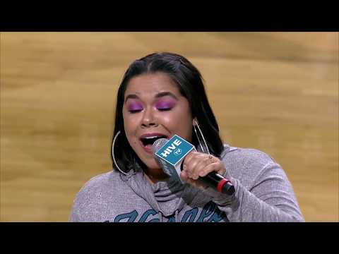 Brooke Simpson sings The National Anthem | Charlotte Hornets