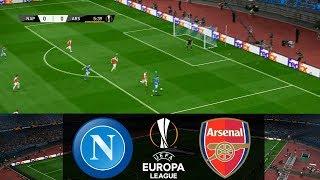 PES 2019 Realistic Highlight: Napoli vs Arsenal (2nd Leg) | UEFA Europa League