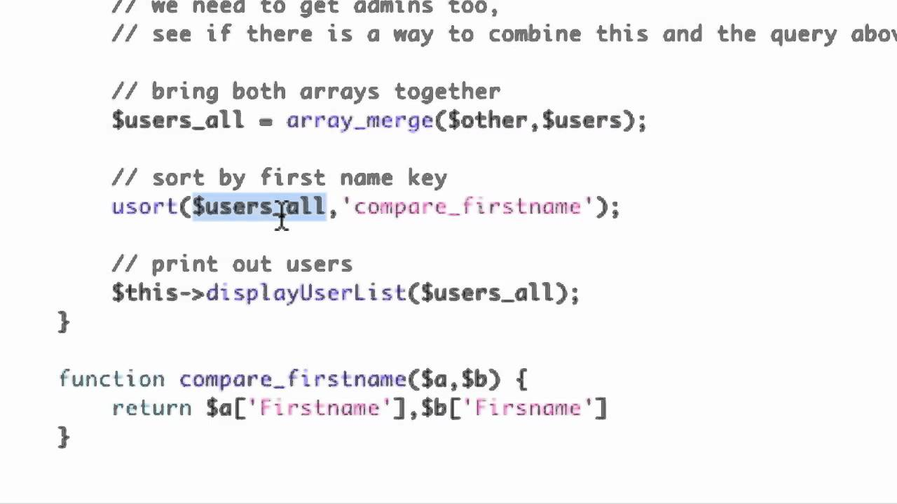 PHP Sort Array on a Key (using sort method inside of a Class)