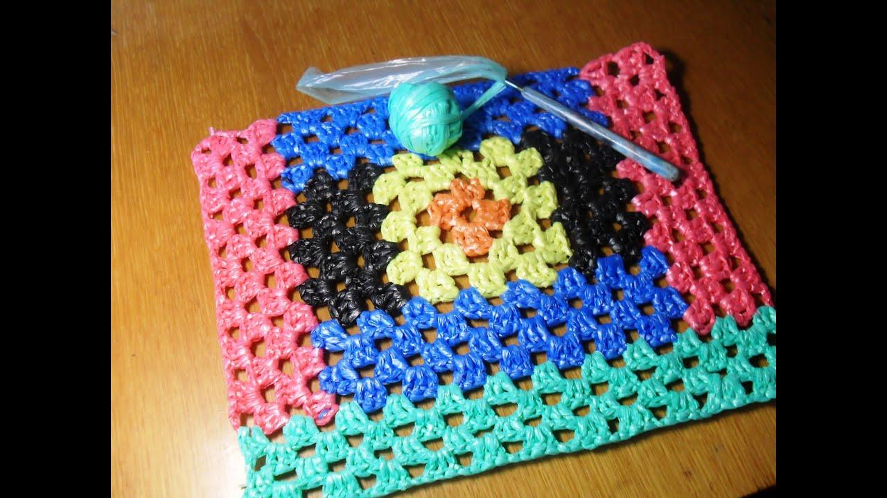 Вязание из пластиковых пакетов