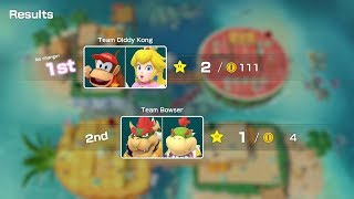 Super Mario Party Partner Party #759 Watermelon Walkabout Diddy Kong & Peach vs Bowser & Bowser Jr