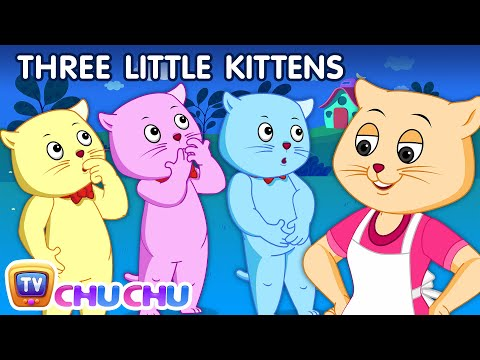 Thumbnail: Three Little Kittens | Nursery Rhymes from ChuChu TV Kids Songs