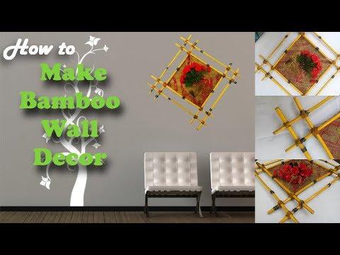 Bamboo Wall Decor Idea Diy Idea For Garden Home Green Plants