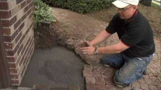 Brick Paver Repair by The Brick Paver Dr. - owner Vince Griffiths - www.thebrickpaverdoctor.com