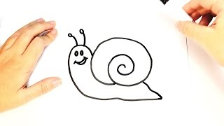 How to Draw a Snail for Kids | Snail Drawing tutorial