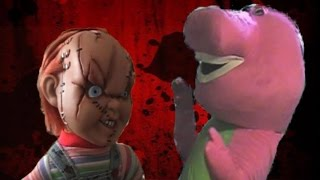 Chucky Vs Barney The Dinosaur
