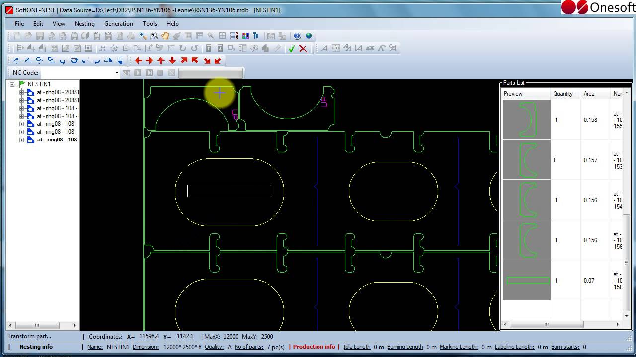 SoftONE NEST CAD / CAM Plate Nesting Software - YouTube