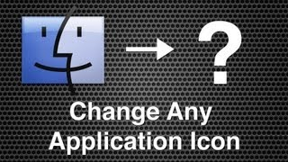 Changing An App, Folder or Hard Drive Icon - Mac OS X