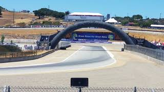 2018 Motul FIM Superbike World Championship at WeatherTech Raceway Laguna Seca race first turns.