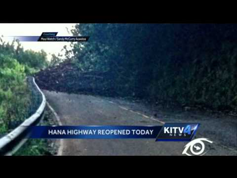 Hana Highway reopened after Friday afternoon mudslide