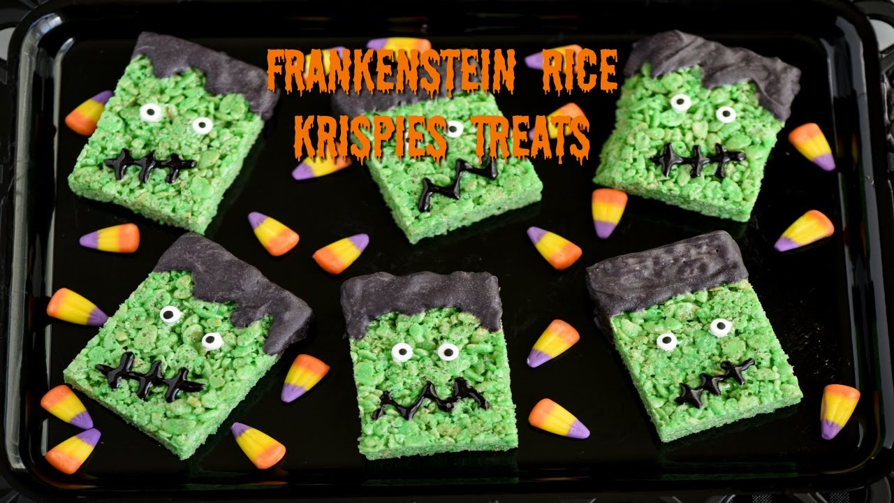 halloween treats frankenstein rice krispies treats 2016