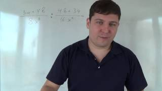 Алгебра 8 класс. 5 октября. Умножение и деление алгебраических дробей #2(Мои каналы: Математика 1 класс http://www.youtube.com/channel/UC6DaMLuoBNAb0bqKgwJvRmA Математика 2 класс ..., 2015-10-05T00:00:01.000Z)