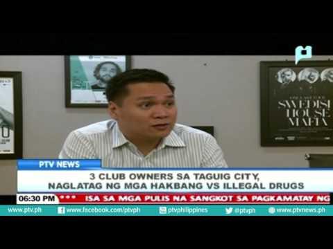 3 club owners sa Taguig City, naglatag ng mga hakbang vs. illegal drugs