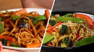 Vegetarian Noodles 5 Ways • Tasty Recipes